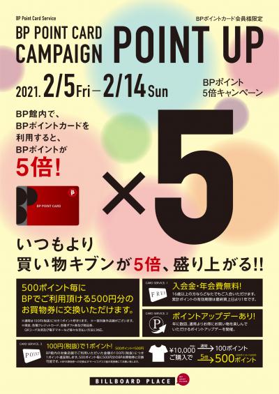 BP POINT CARDポイント5倍キャンペーン!