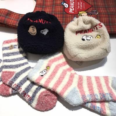 スヌーピー巾着&靴下セット