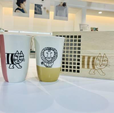 【リサラーソン】木箱入りフリーカップセット♡