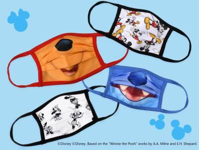 大人気!ディズニーキャラクター柄マスクが好評販売中★ 10/6より、4枚セットも発売スタート!